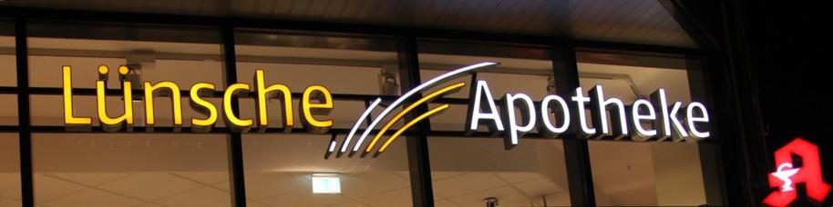 Dach Eingang Lünsche Apotheke in Lüdenscheid