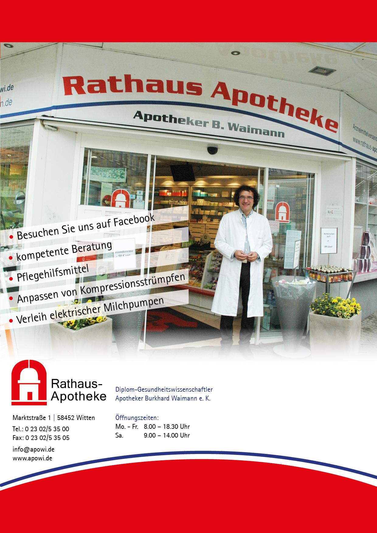 Prospekt Sonderangebote Rathaus Apotheke Witten